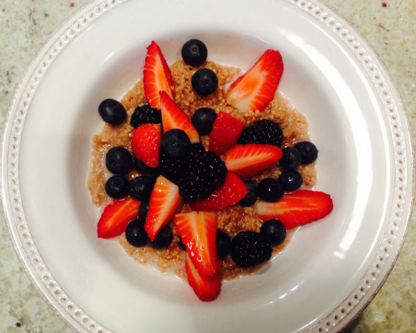 Quinoa with berries